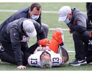 Odell Beckham Jr suffers season-ending injury in Cleveland Browns' NFL win over Cincinnati Bengals - Independent