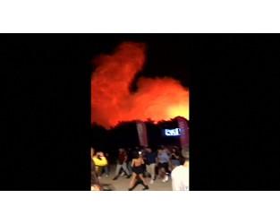 Croatia music festival evacuated as fire erupts - BBC