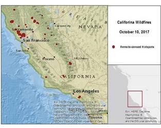 California Wildfires – October 8-10, 2017