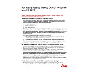 Aon Rating Agency Weekly COVID-19 Update May 26, 2020