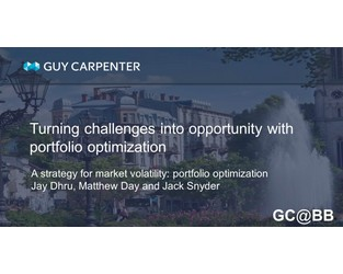 A Strategy For Market Volatility: Portfolio Optimization - GC@BB Commentary