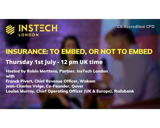 Webcast: Insurance: to Embed, or not to Embed