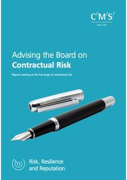 Advising the Board on Contractual Risk