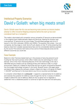 Intellectual Property - David v Goliath: when big meets small