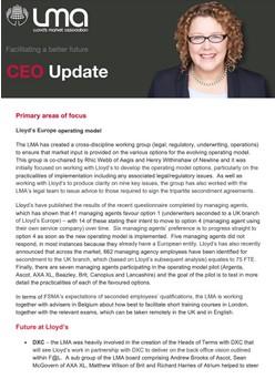 CEO Quarterly Report