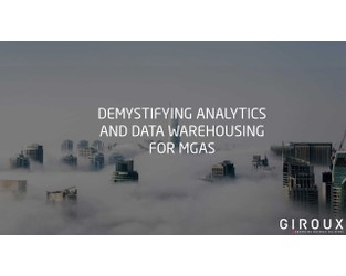 Demystifying Analytics and Data Warehousing for MGAs