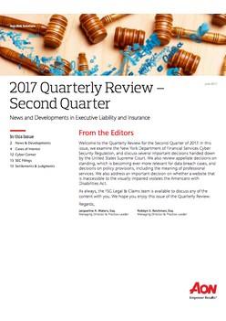2017 Quarterly D&O Review - Second Quarter