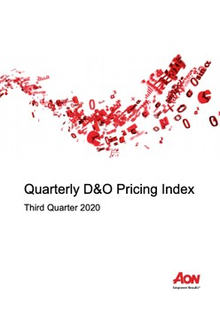 Quarterly D&O Pricing Index - Third Quarter 2020
