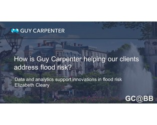 Data And Analytics Support Innovations In Flood Risk Management - GC@BB Commentary