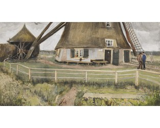 Poignant Van Gogh watercolour of a windmill coming up for sale - The Art Newspaper