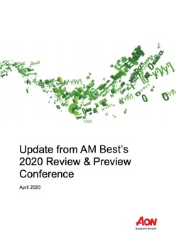 Update from AM Best's 2020 Review & Preview Conference