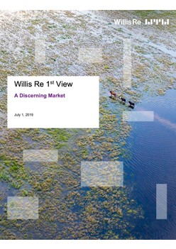 Willis Re 1st View: A Discerning Market - July 1, 2019