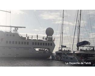 Cruise ship MSY WIND SPIRIT struck yachts, pier, after engines failure, South Pacific - FleetMon