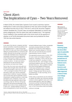 The Implications of Cyan – Two Years Removed