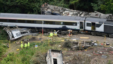 Investigators Confirm Passenger Train in Scotland Hit Landslide Before Derailment