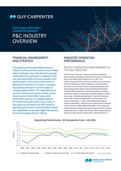 Plotting A Path In A Changing Market - P&C Industry Overview