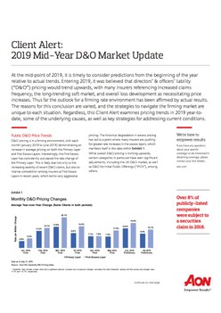 2019 Mid-Year D&O Market Update
