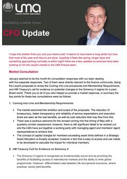 CFO Quarterly Report