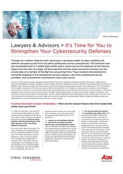 Lawyers & Advisors - It's Time for You to Strengthen Your Cybersecurity Defenses