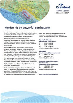 Mexico hit by powerful earthquake
