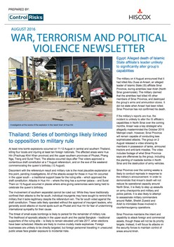 War, Terrorism and political violence Newsletter