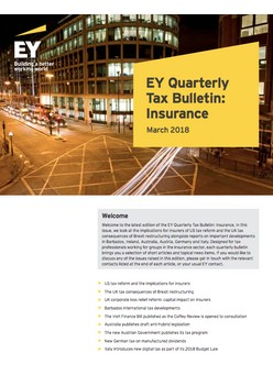 EY Quarterly Tax Bulletin: Insurance - March 2018