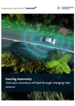 Insuring Autonomy: How auto insurance will lead through changing risks