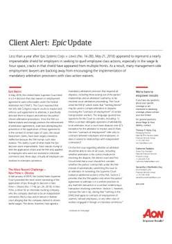 Client Alert: Epic Update