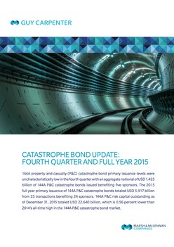 Catastrophe Bond Update: Fourth Quarter and Full Year 2015