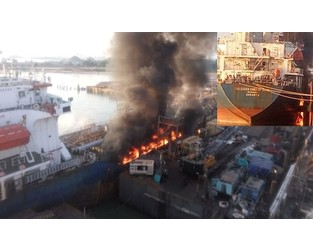 Tanker explosion, fire, two workers injured, Indonesia - FleetMon