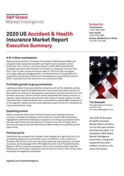 2020 US Accident & Health Insurance Market Report - Executive Summary