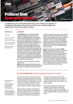 Political Risk Quarterly Update