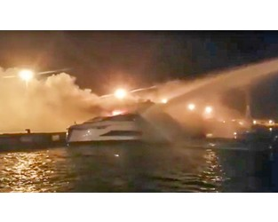 New 37m Tecnomar Evo 120 destroyed by fire - Superyacht Times