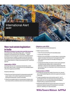 New real estate legislation in India
