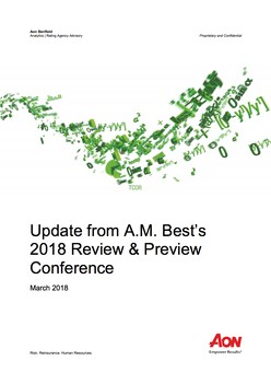 Update from A.M. Best's 2018 Review & Preview Conference