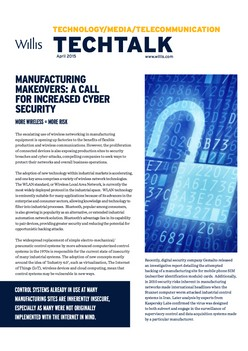 TechTalk: Manufacturing Makeovers: A Call For Increased Cyber Security