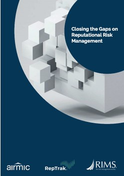 Report: Closing the Gaps on Reputational Risk Management