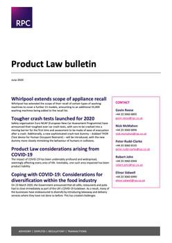 Product Law Bulletin