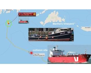 Tanker collided with fishing vessel, Martha's Vineyard - FleetMon
