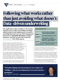 Data-driven underwriting in the marine insurance sector