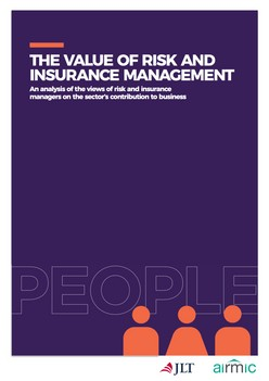 The Value of risk and insurance management