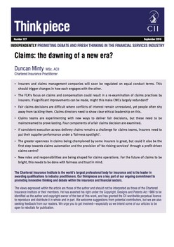 Claims: the dawning of a new era?