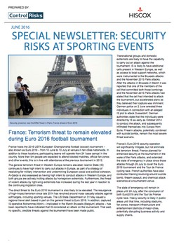 Special Newsletter: security risks at sporting events