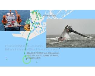SEACOR jackup platform capsized in Louisiana waters, 12 missing, USA - FleetMon