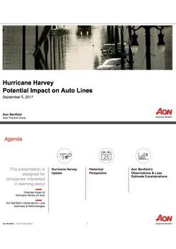 Hurricane Harvey Potential Impact on Auto Lines