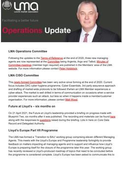 Operations Quarterly Update