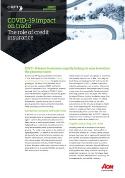 COVID-19 Impact on Trade: The Role of Credit Insurance