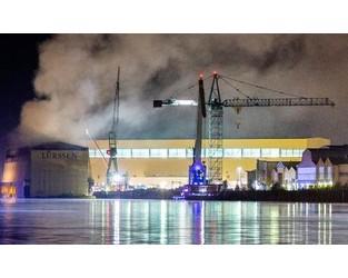 PCS to track Lürssen shipyard fire loss. Small ILS market hit possible?