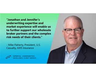 AXIS Insurance Advances Growth of U.S. Excess Casualty Team With Appointments of Jonathan Martin and Jennifer Fisher
