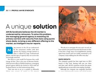 Profile: AM RE Syndicate, a unique solution - Intelligent Insurer